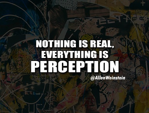 Nothing Is Real; Everything Is Perception - by Allen Weinstein