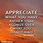 Allen Weinstein - Appreciate What You Have Rather Than Agonize Over What You Do Not Have