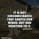 It Is Not Circumstances That Shapes Our Minds, But Our Reaction To It - Allen Weinstein