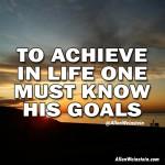 To Achieve In Life One Must Know His Goals - Allen Weinstein quote