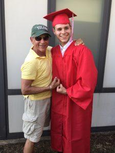 Allen Weinstein with grandson Darin for his high school graduation