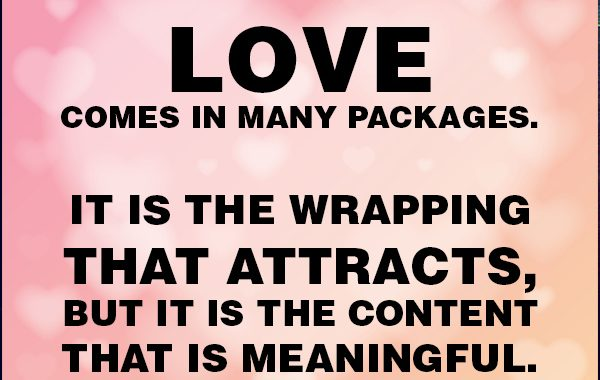 Love Comes In Many Packages - Allen Weinstein